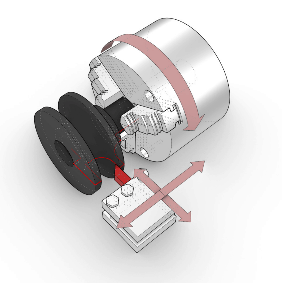 illustration of CNC Turning Process