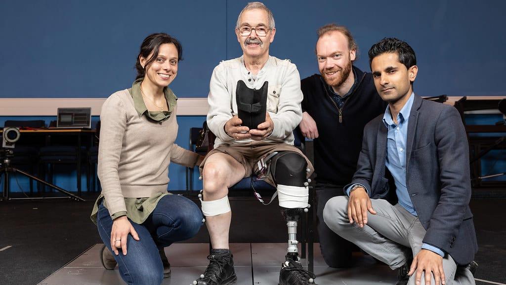 prosthetic leg and team