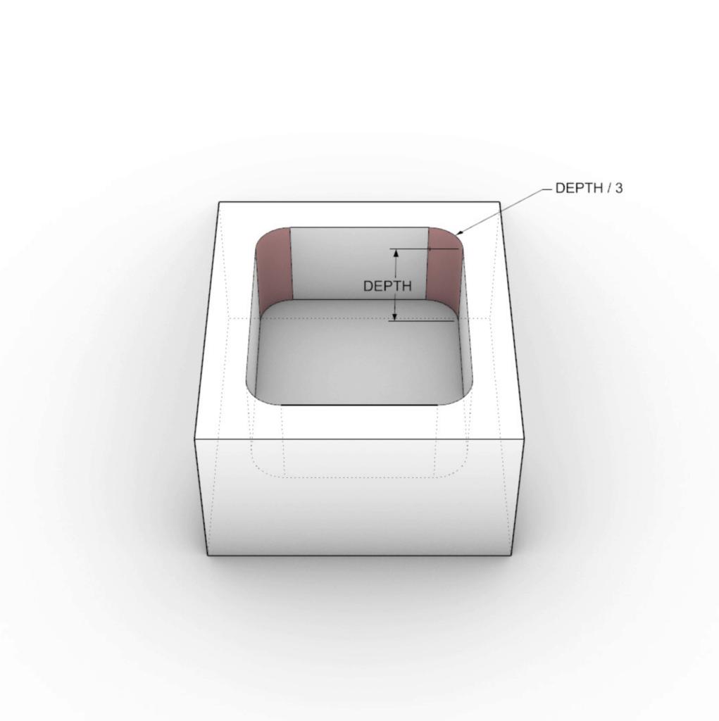 illustration of vertical radii on cnc machining