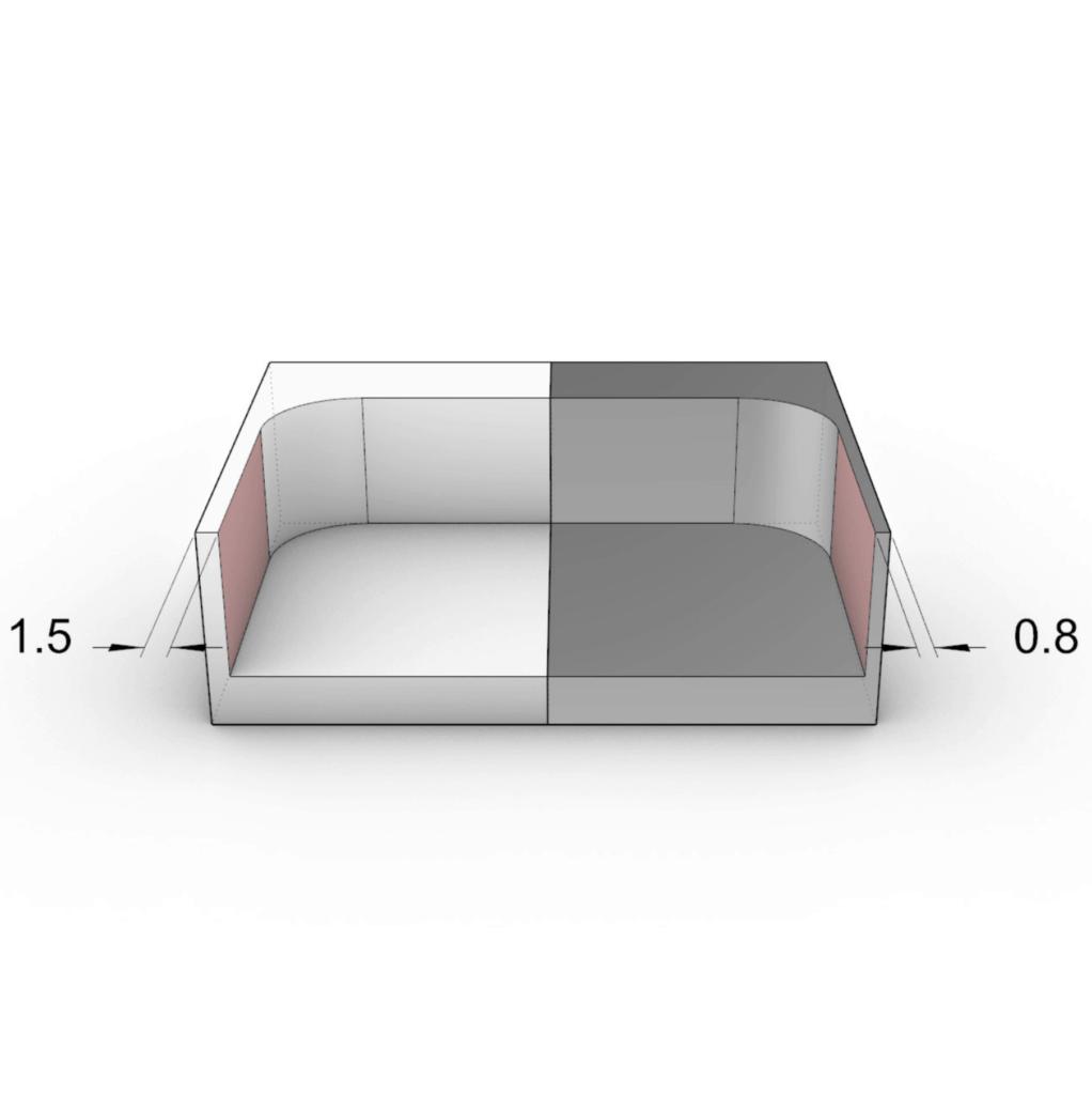 illustration of minimum wall thickness on cnc machining