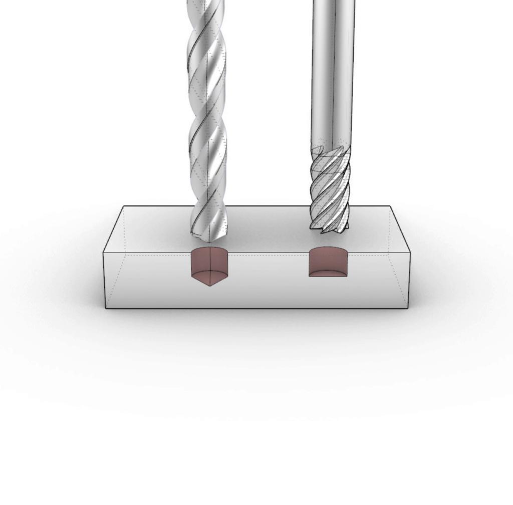 illustration of hole diameters on cnc machining
