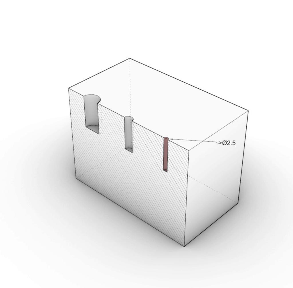 illustration of minimum hole diameters on cnc machining