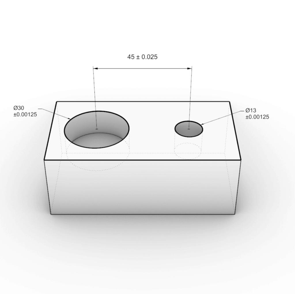 illustration of tolerances on cnc machining