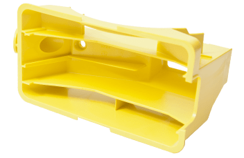 yellow injection moulded part