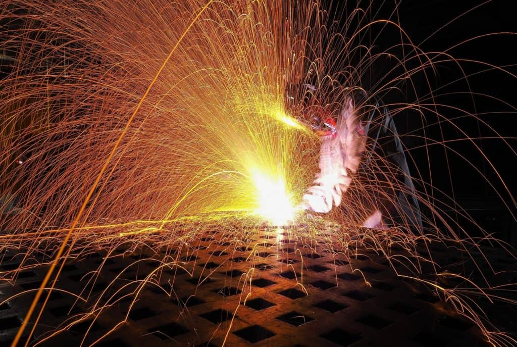 Sheet Metal Fabrication laser cutting sparks