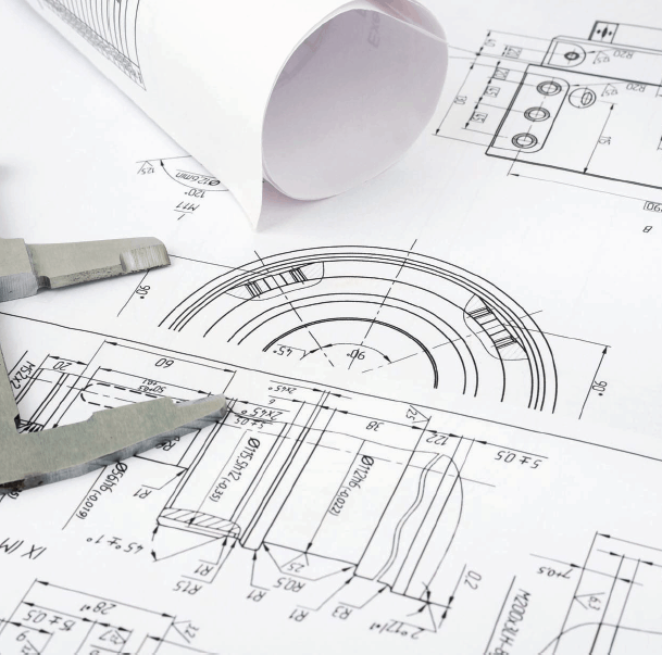 inspection tool on a technical drawing