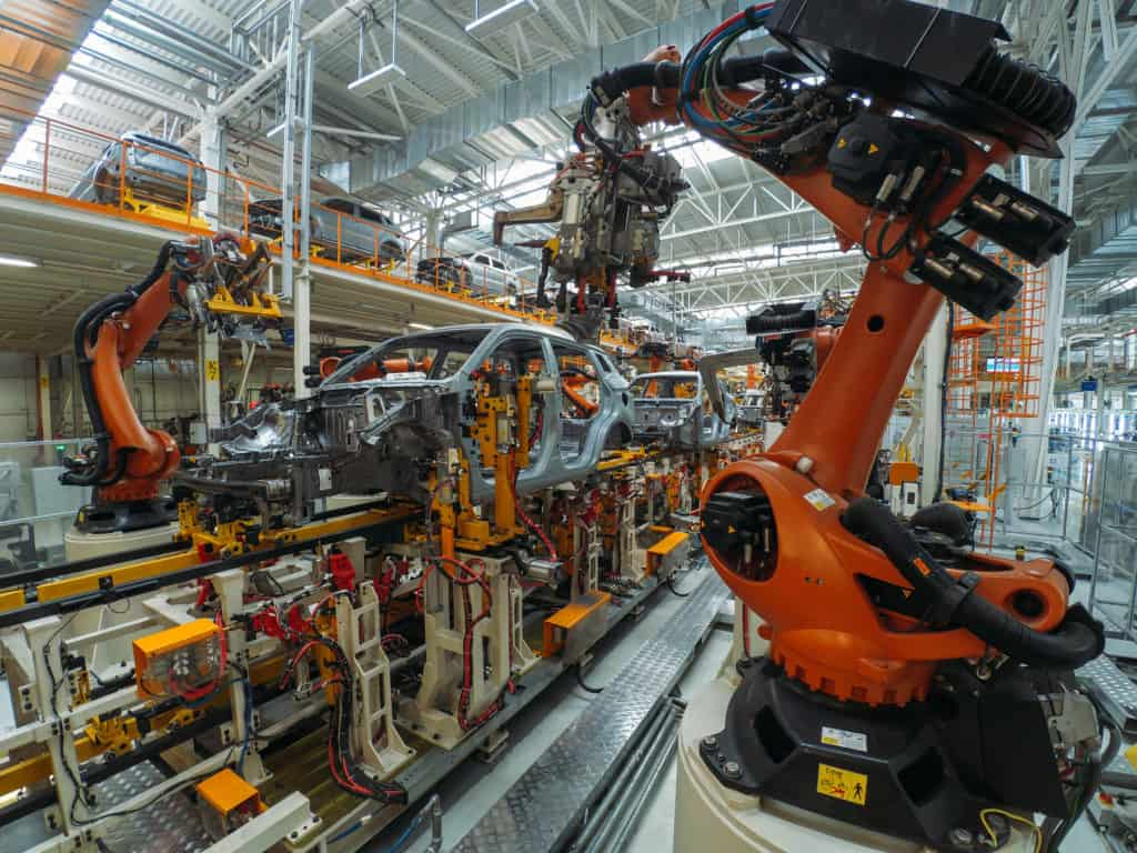 Automobile assembly line production