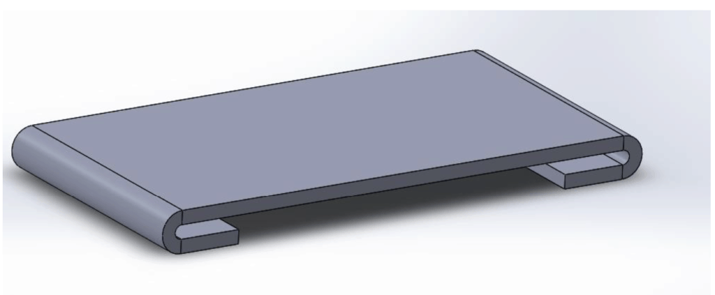 sheet metal with closed hems