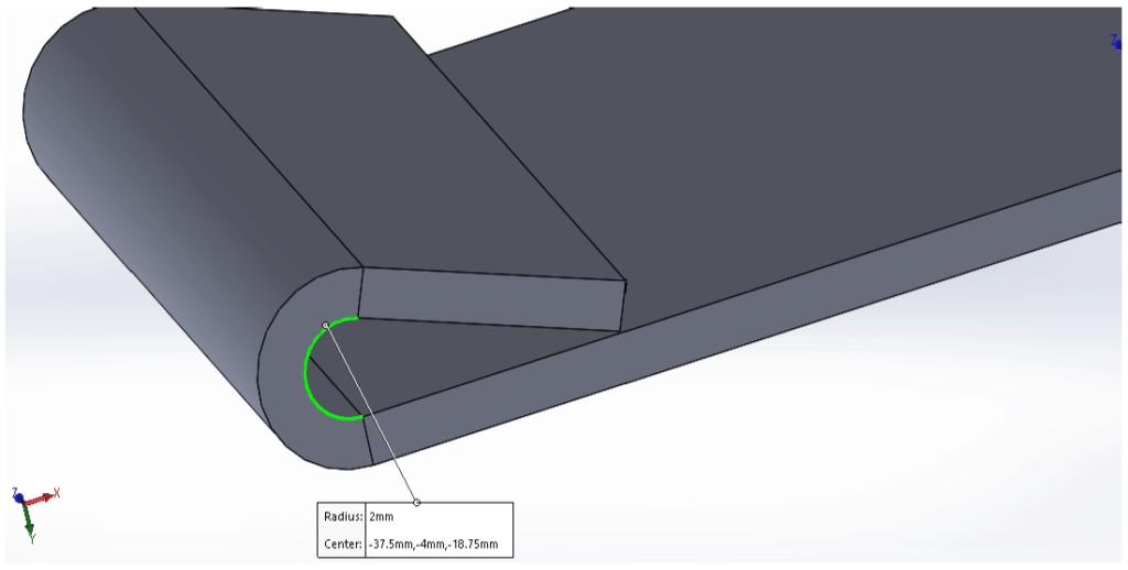 sheet metal tear-drop hem inner radius