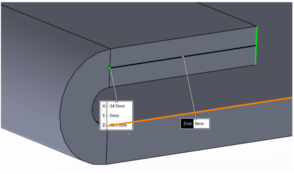 sheet metal hem showing that the minimum distance between the inside edge of the bend and the outside of the hem should be 5 times material thickness plus bend radius plus hem radius