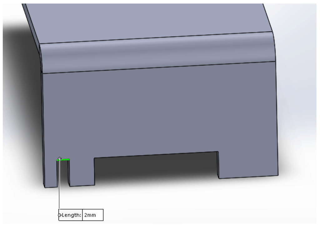 illustration of notches on a sheet metal part