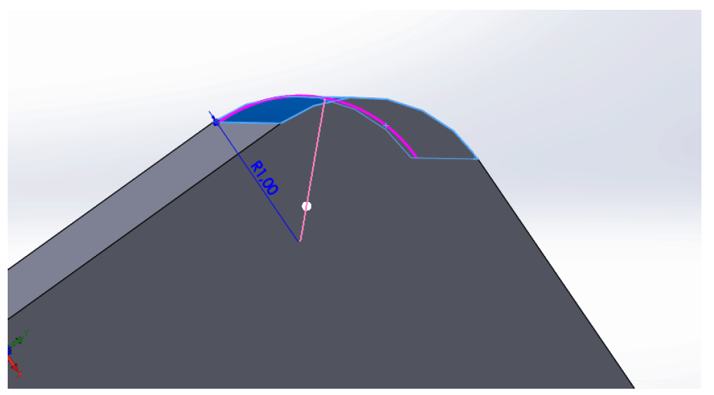 illustration of notches corner on a sheet metal part