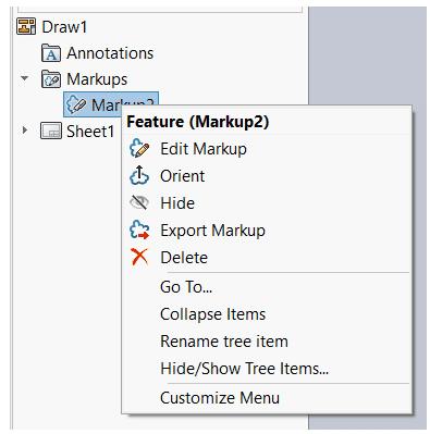 feature drop down menu markup