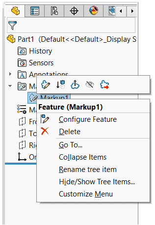 automation feature markup