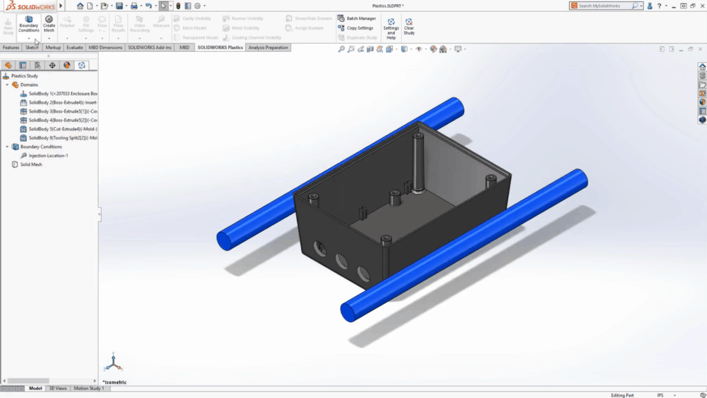 Geometry-Based Boundary Conditions on Solidworks
