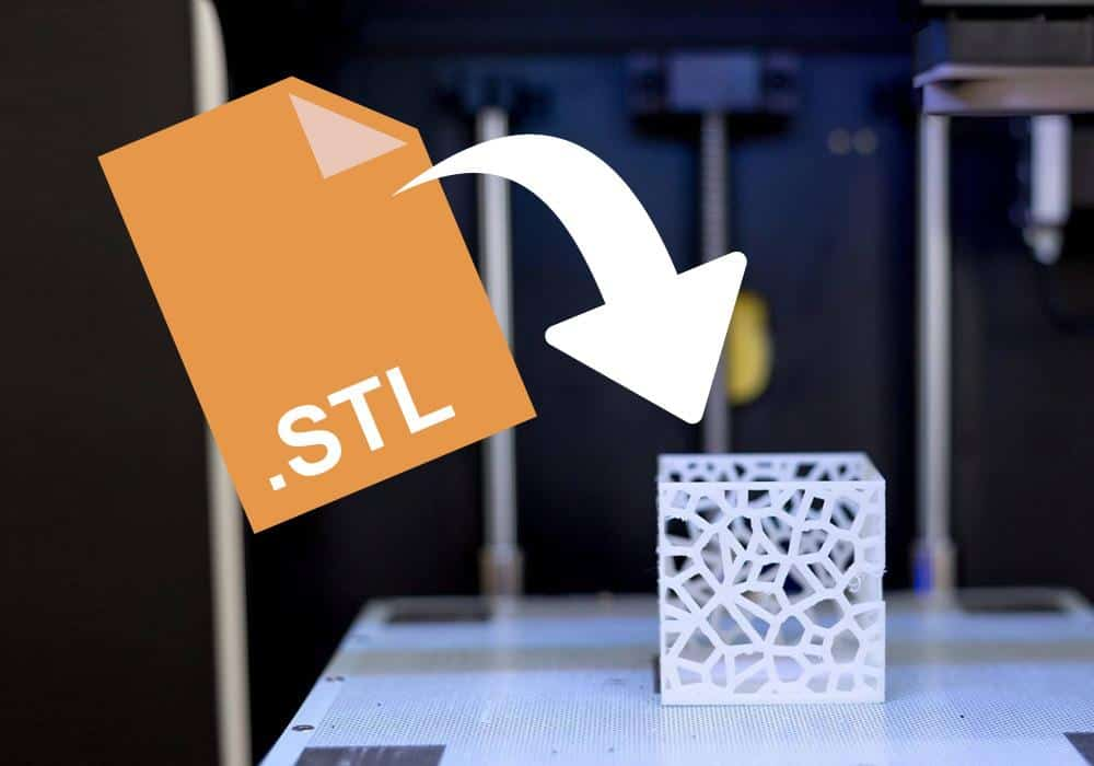 STL file icon and 3d printed part