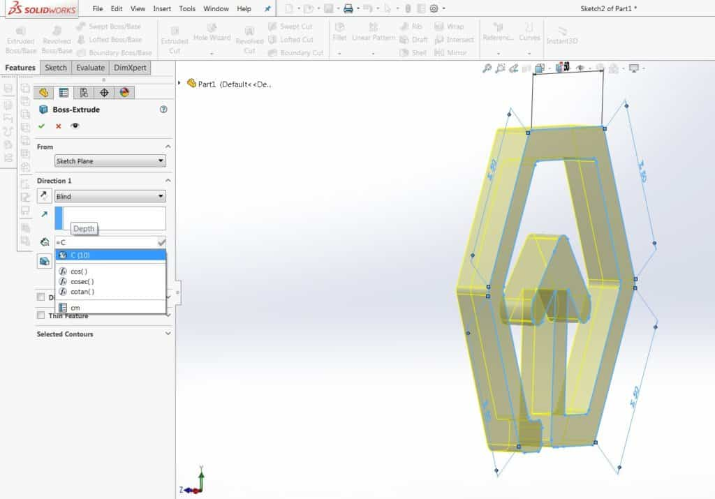 Solidworks tool showing 3D Geomiq Logo