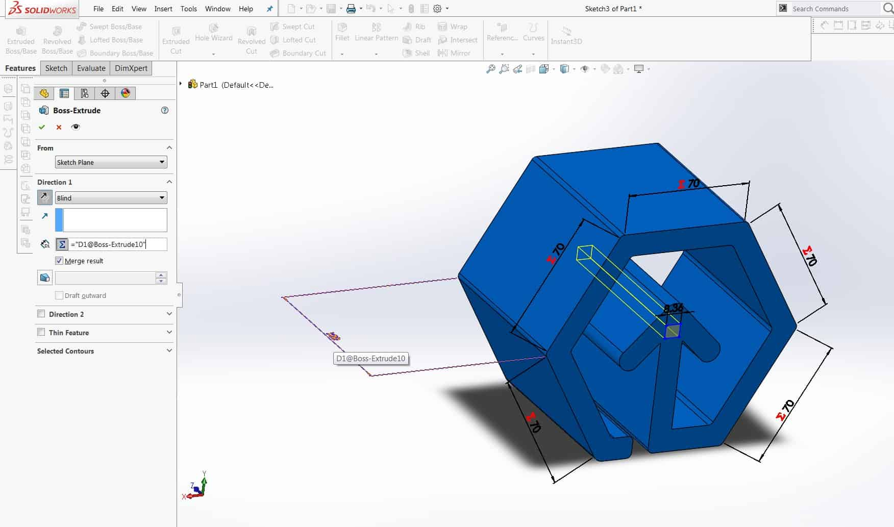 How to increase productivity in Solidworks with formulas, equations & Linked Global Variables