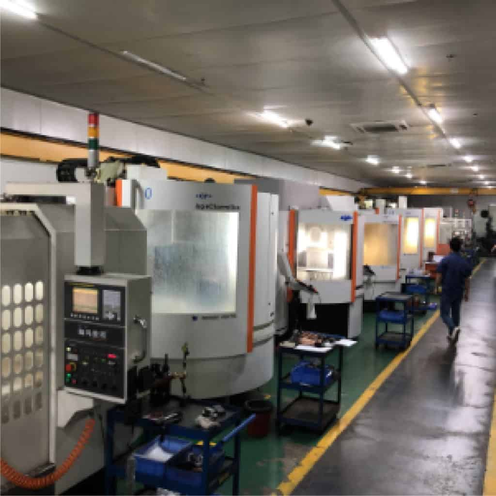 manufacturing machines on a factory floor