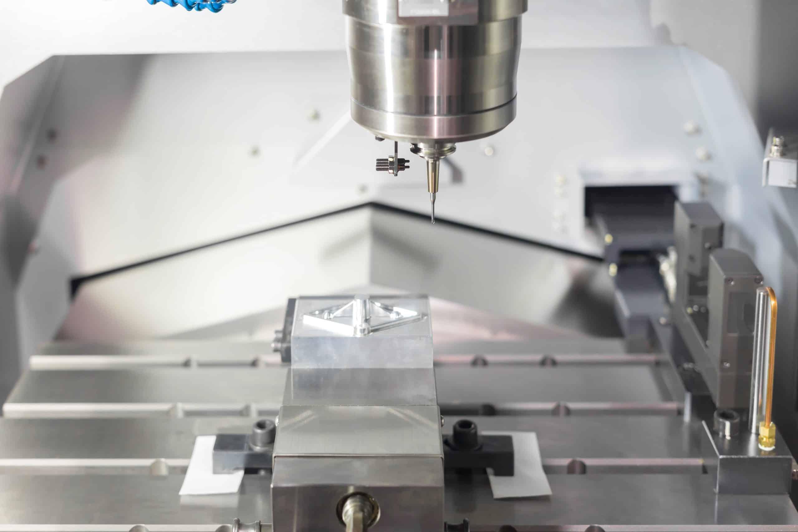 precision part with a cnc milling machine
