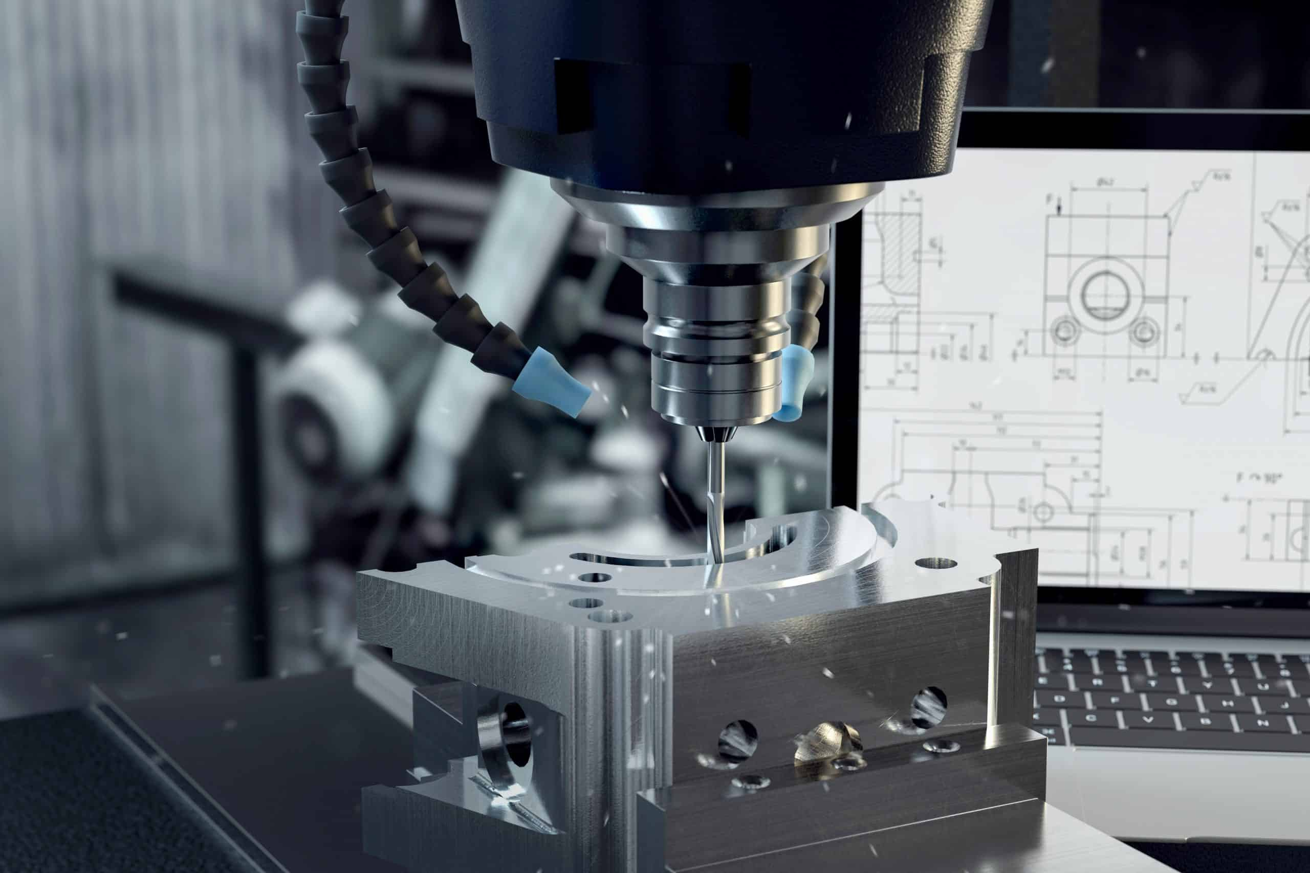CNC milling metalworking