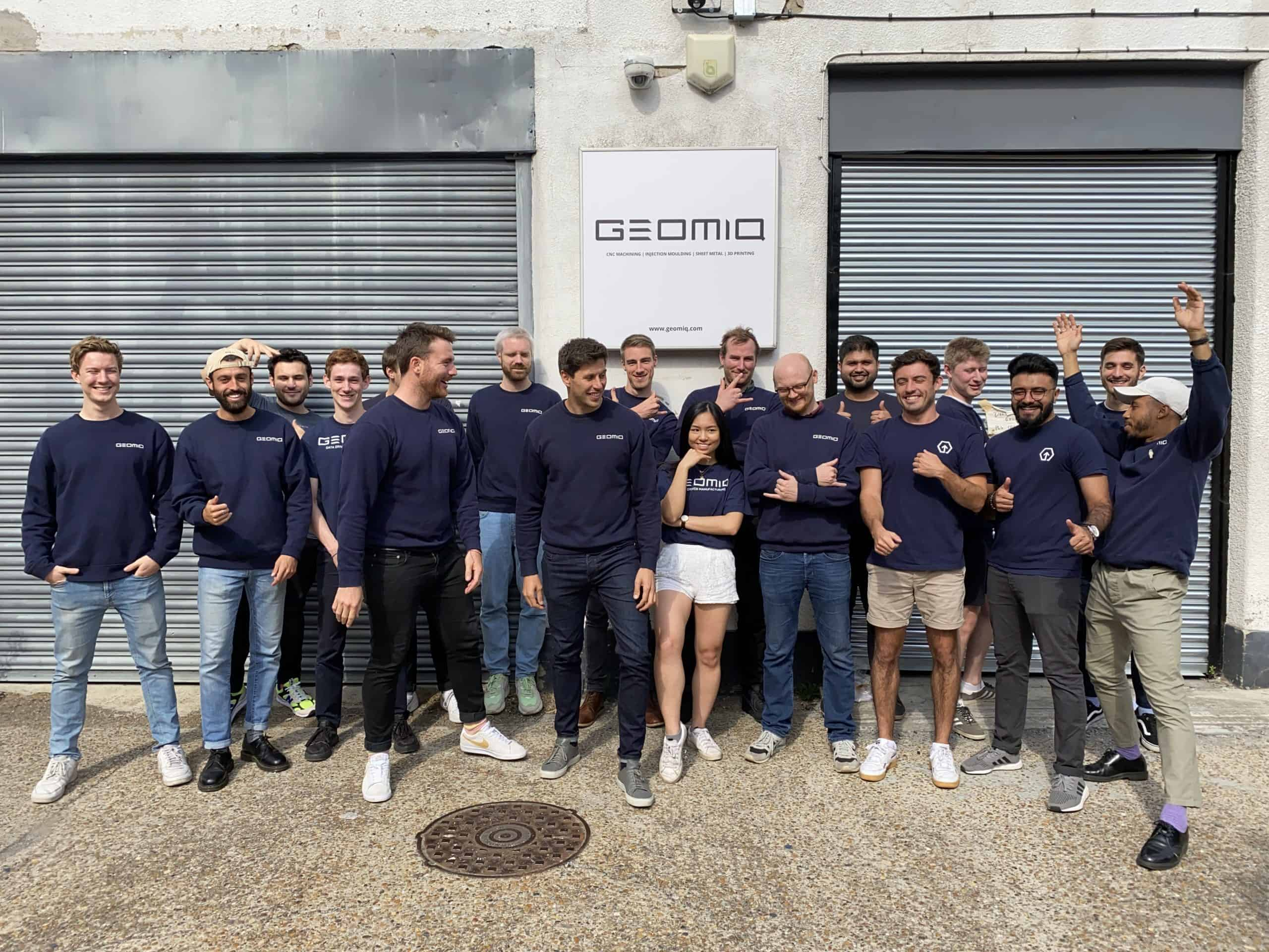 Geomiq Team outside of the office