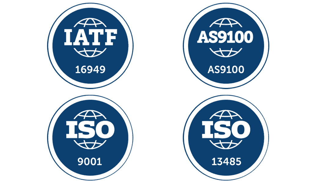 Quality certifications for manufacturing