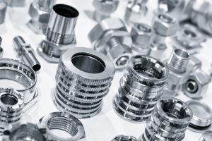 Many types of metal details industrial design background