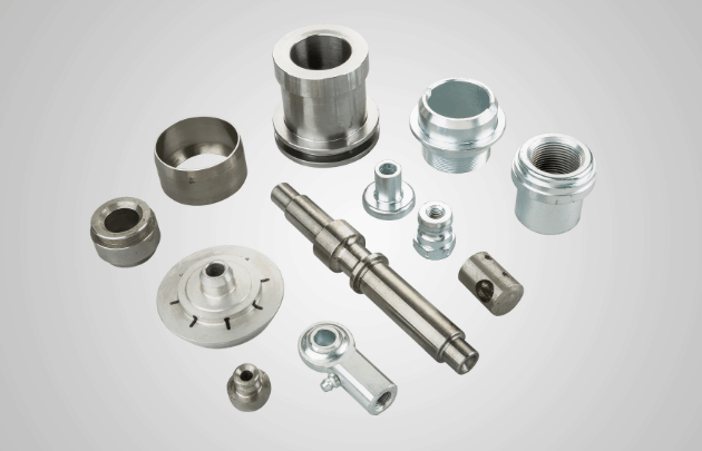 multiple cnc parts in different shapes